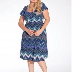 Igigi Plus size Adora Chevron dress 22/24